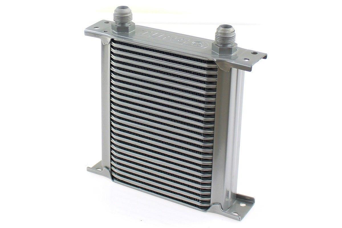 Chłodnica Oleju TurboWorks Slim Line 25-rzędowa 140x195x50 AN10 silver - GRUBYGARAGE - Sklep Tuningowy